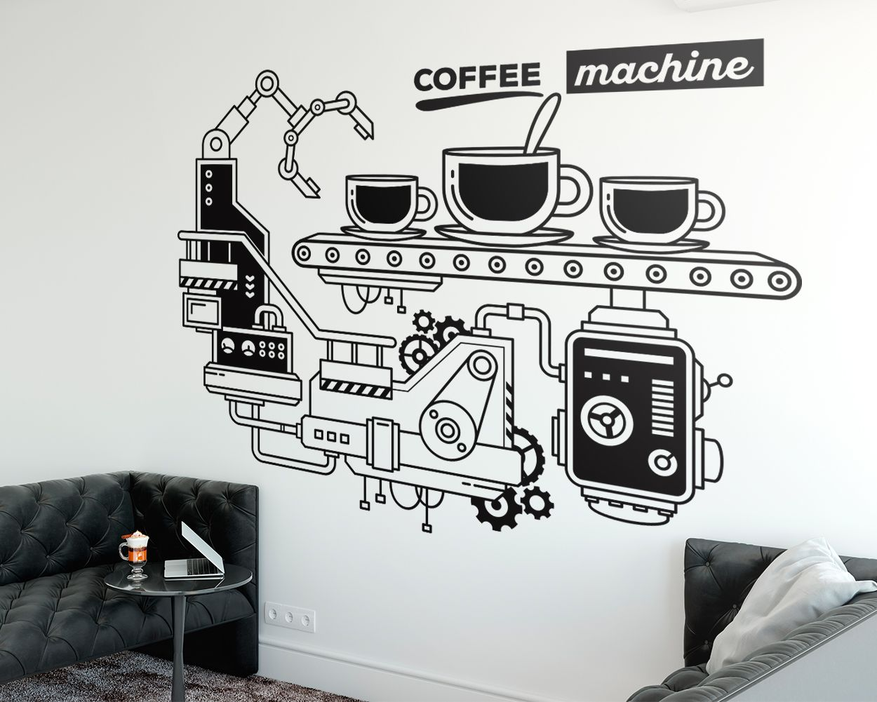 Coffee Machine Office Wall Decor